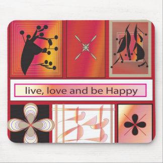 、愛は住み、幸せです マウスパッド