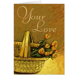 愛は刑務所のようであり、私は梳くのをそれが好みます カード