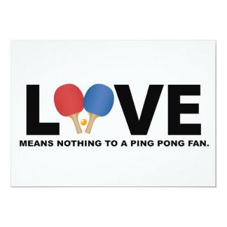 愛は卓球ファンに何も意味しません カード