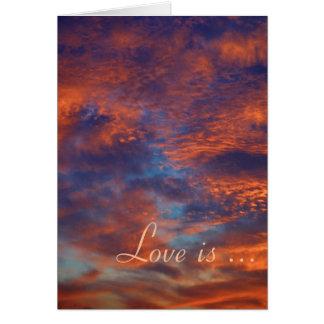 愛は忍耐強いです、愛です親切な-カード-テンプレート カード