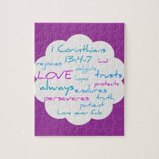 愛は忍耐強いです、愛です親切 ジグソーパズル