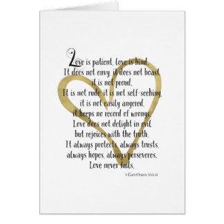 愛は忍耐強いハートです カード