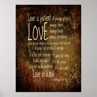 愛は忍耐強い混合物です ポスター