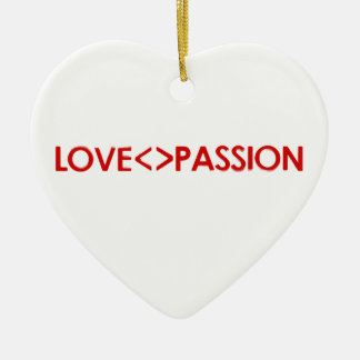 愛は情熱の概念設計と異なっています セラミックオーナメント