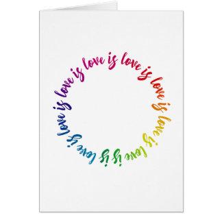 愛は愛です愛です愛虹の円です カード