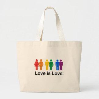 愛は愛です ラージトートバッグ