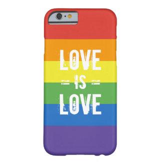 愛は愛です-平等の虹の旗を愛して下さい BARELY THERE iPhone 6 ケース