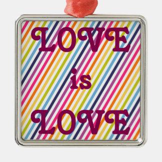 愛は愛結婚の平等です メタルオーナメント