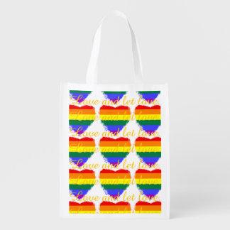 愛は愛虹のハートパターンを可能にし、 エコバッグ