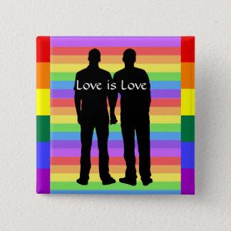 愛は愛、ゲイプライドの虹ボタンです 缶バッジ
