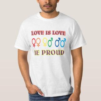 愛は愛、自慢していますです Tシャツ