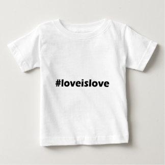 愛は愛LGBTサポート衣類です ベビーTシャツ