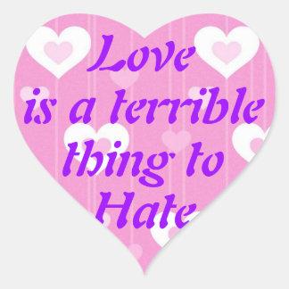 愛は憎むべきひどい事です ハートシール