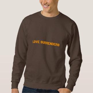 愛は手渡します(暗いチョコレートでオレンジ) スウェットシャツ