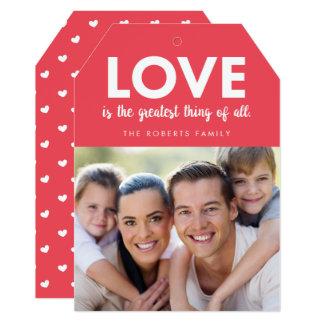 愛は最も素晴らしい|のバレンタインデーの写真カードです カード