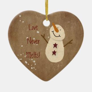 愛は決してクリスマスのオーナメントを溶かしません セラミックオーナメント