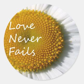 愛は決してデイジー1のCorinthians 13を失敗しません ラウンドシール