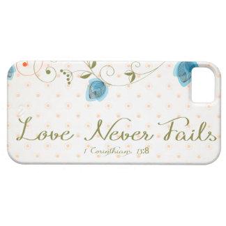 愛は決して聖なる書物、経典を失敗しません iPhone SE/5/5s ケース