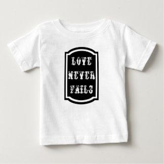 愛は決して赤ん坊の素晴らしいジャージーのTシャツを失敗しません ベビーTシャツ