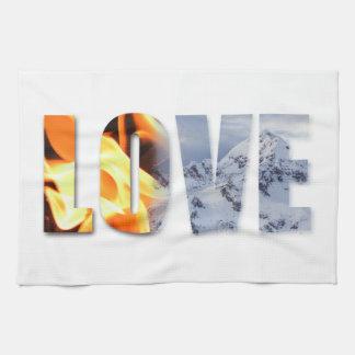 愛は火の雪の台所タオルを好みます キッチンタオル