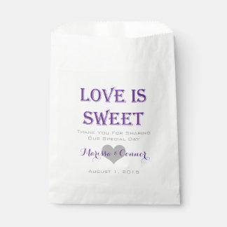 愛は甘い紫色の結婚式のバッグです フェイバーバッグ