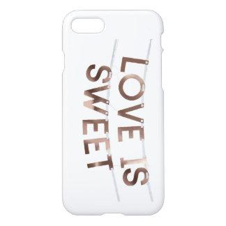 愛は甘くカスタムなiPhone 7の光沢のある場合です iPhone 8/7 ケース