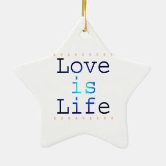 愛は生命文字です セラミックオーナメント