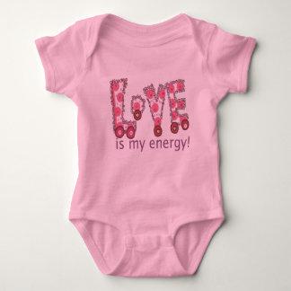 愛は私のエネルギーです ベビーボディスーツ