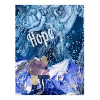 愛は私達の生命の唯一の希望です ポストカード