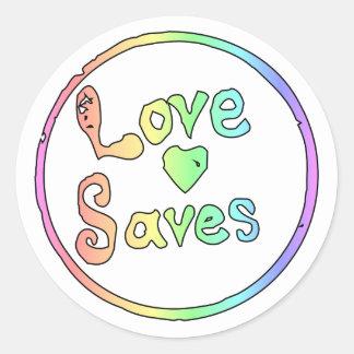 愛は私達をすべて救います 丸形シール・ステッカー