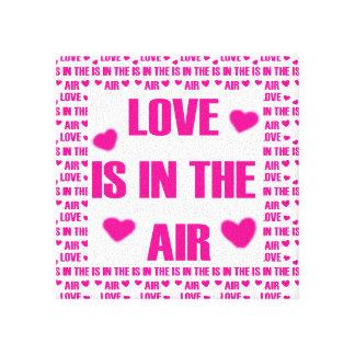 愛は空気にあります キャンバスプリント