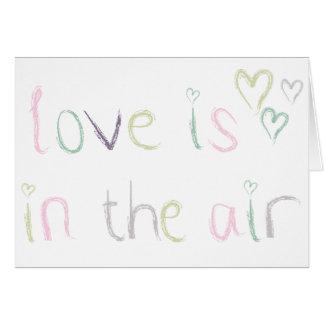 愛は空気にあります グリーティングカード