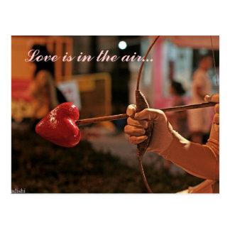 愛は空気にあります ポストカード