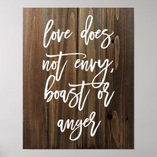 愛は羨望しませんでしたり、自慢しませんまたは… 模造のな木|ポスター ポスター