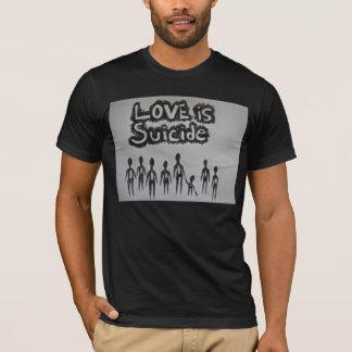愛は自殺基本的なTです Tシャツ