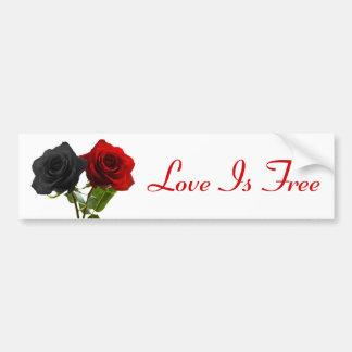 愛は自由です バンパーステッカー