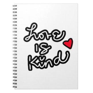 愛は親切なノートです ノートブック