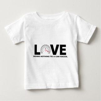 愛は車のレーサー2に何も意味しません ベビーTシャツ