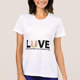 愛は野球ファンに何も意味しません Tシャツ