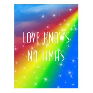 愛は限界を知っていません ポストカード