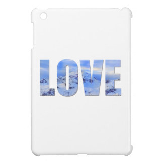 愛は雪の堅い貝のiPad Miniケースを好みます iPad Miniケース