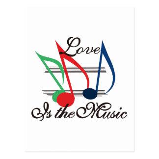 愛は音楽です ポストカード