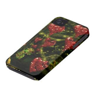 愛は風変わり-奇妙な抽象芸術の赤いハートです Case-Mate iPhone 4 ケース