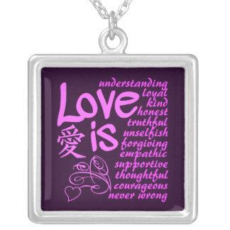 愛は…ネックレスです シルバープレートネックレス