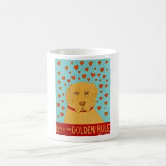 愛はGoldensの規則-スティーブンHuneckです コーヒーマグカップ