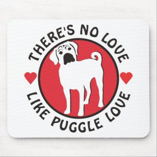 愛はPuggle愛を好みません マウスパッド