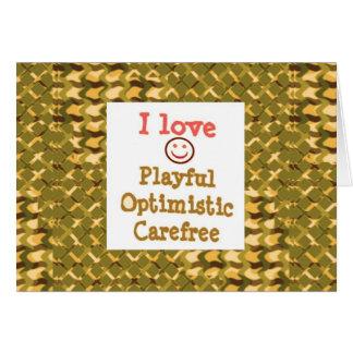 愛よくはしゃぐで楽観的でのんきな低価格のギフト カード