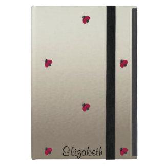 愛らしいかわいいの明る名前入りなてんとう虫 iPad MINI ケース