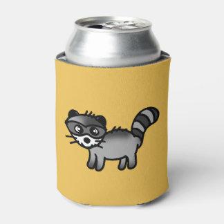 愛らしいアライグマ動物の漫画 缶クーラー