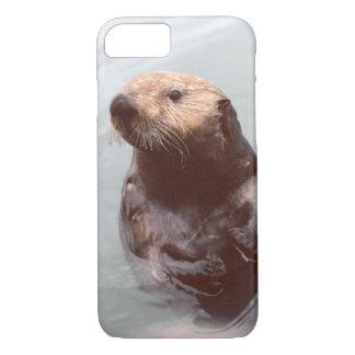 愛らしいアラスカのラッコの携帯電話 iPhone 8/7ケース